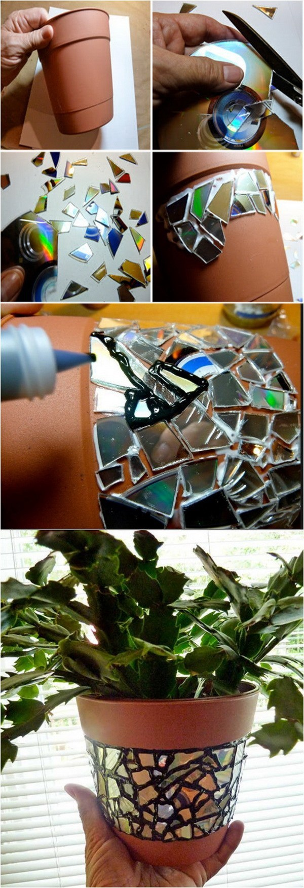 DIY Mosaic Flower Pot Idea