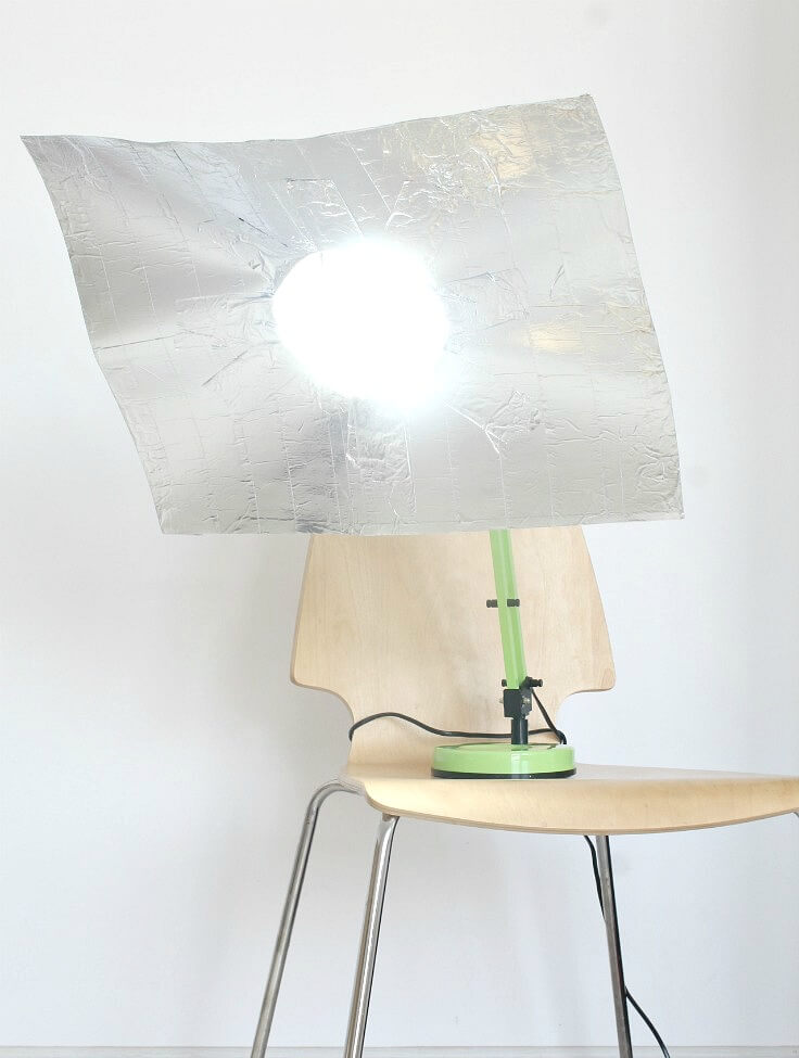 Amplify sunlight using aluminium foils