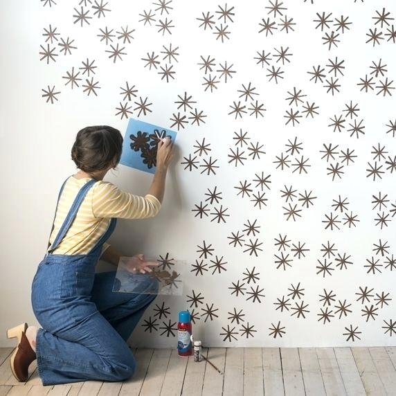 Own Stenciled Wall-paper