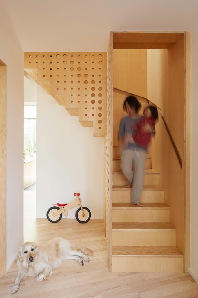 Top Hole Punch Staircase by R2 Studio