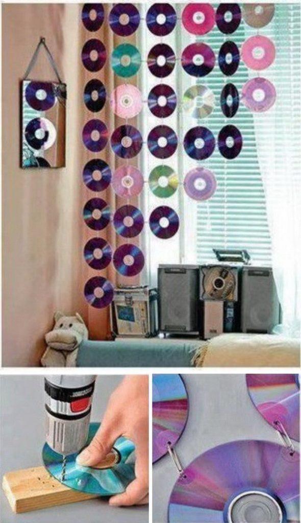DIY CD Curtains Idea