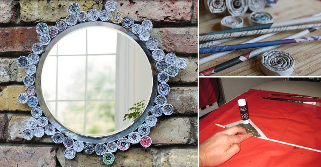 Mirror Frame With Newspaper