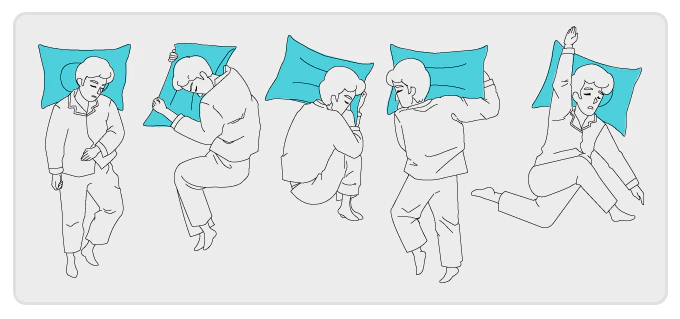 Sleep Well with Cotton Shower Pillow