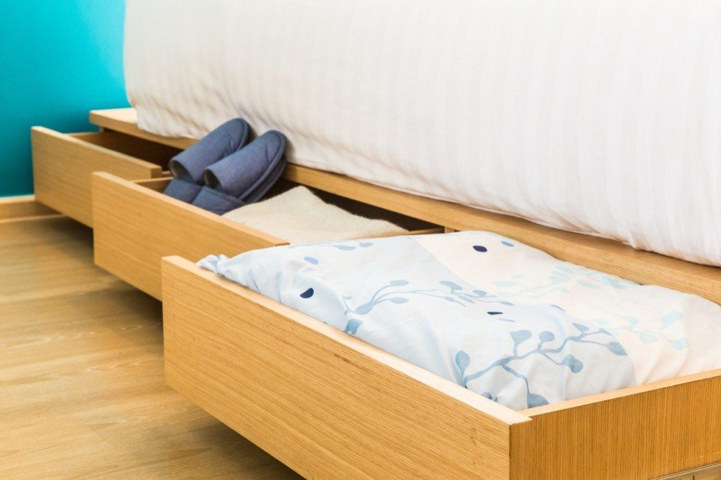 Opt for beds with storage drawers