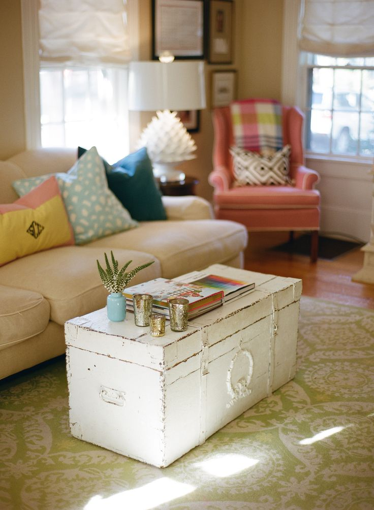 Use your old trunks as tables