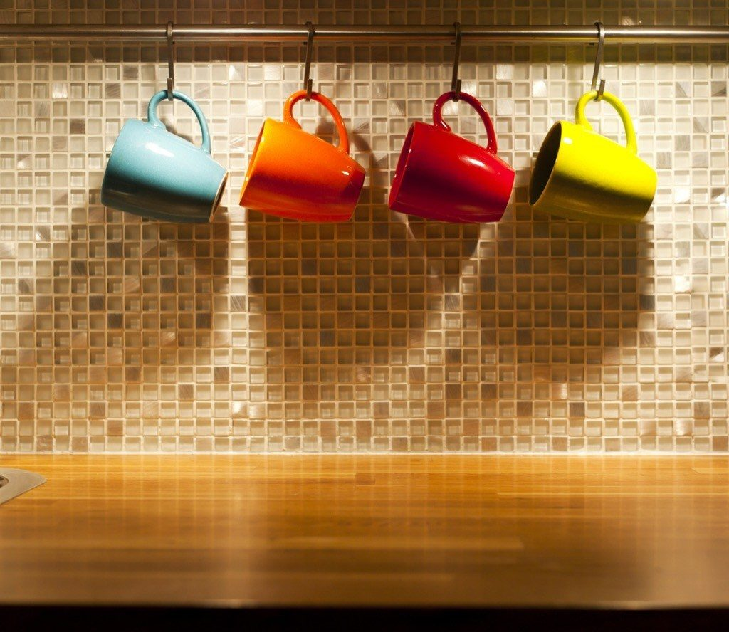 Use a lot of cup hooks in your kitchen