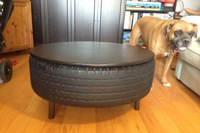 Coffee Tables From Abandoned Tyres