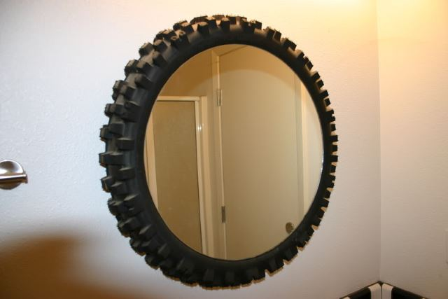 Tyre-framed Wall Art