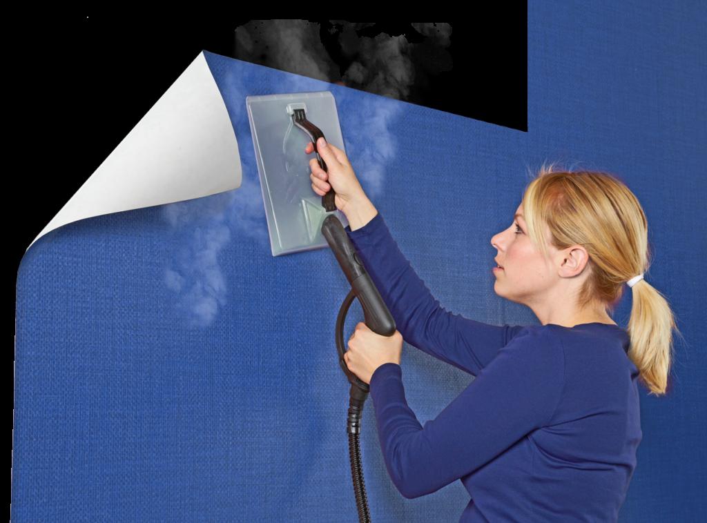 Steam the wallpaper to remove it