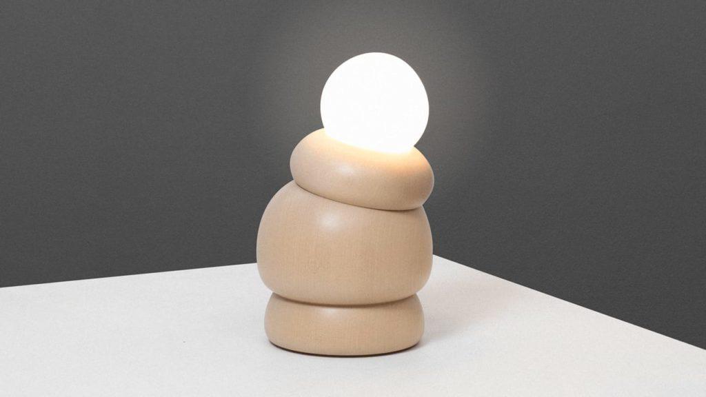 human knee tilting lamp