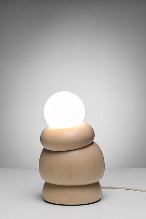 Top human knee tilting lamp