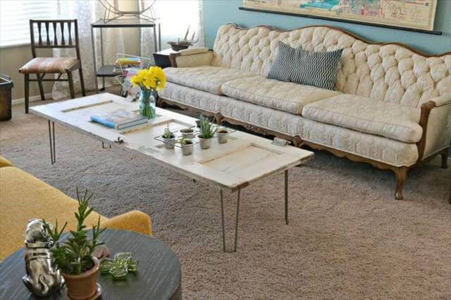 DIY Hairpin legs coffee table