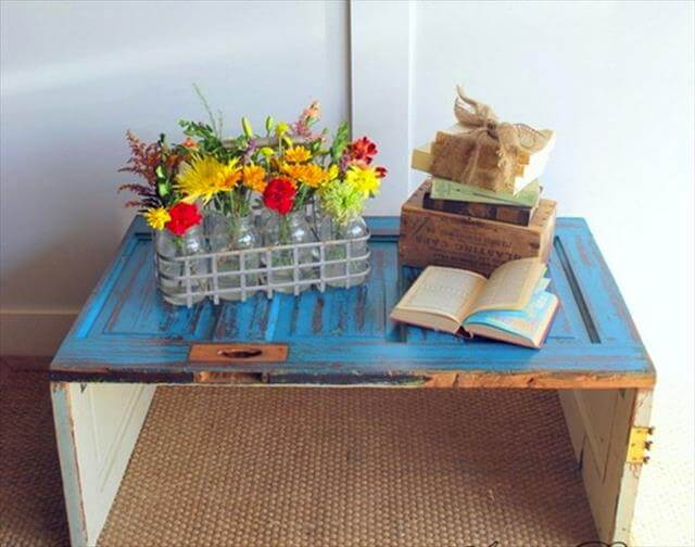 Turn it into a wooden coffee table