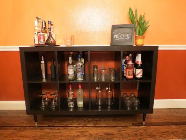 Transforming Your Bookshelf Into A Bar?