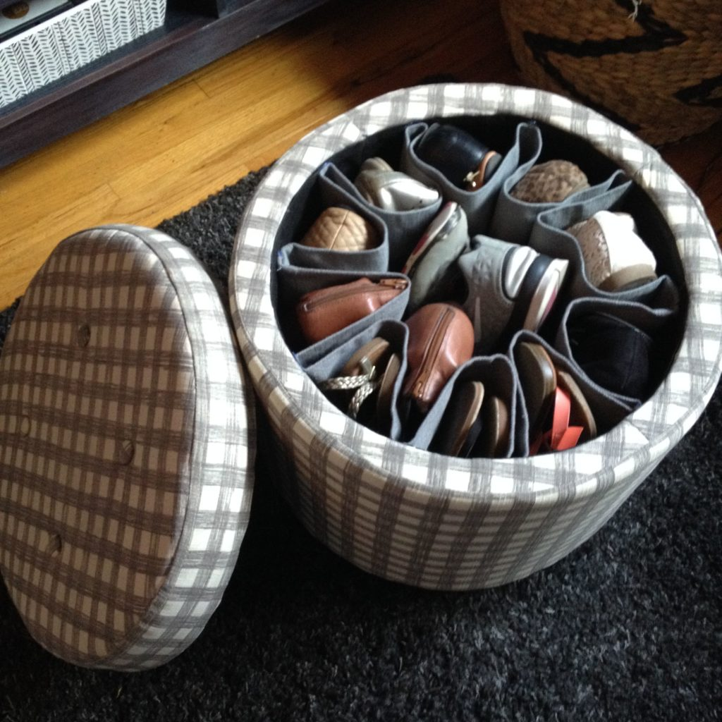 Stack them inside a storage ottoman