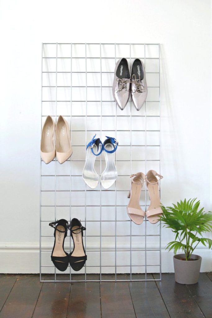 Wire racks for shoes