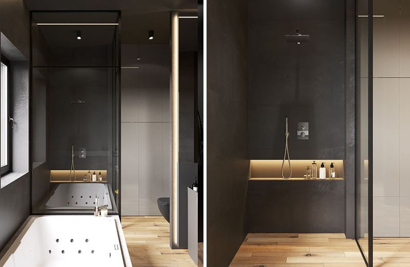 What are shower niches?
