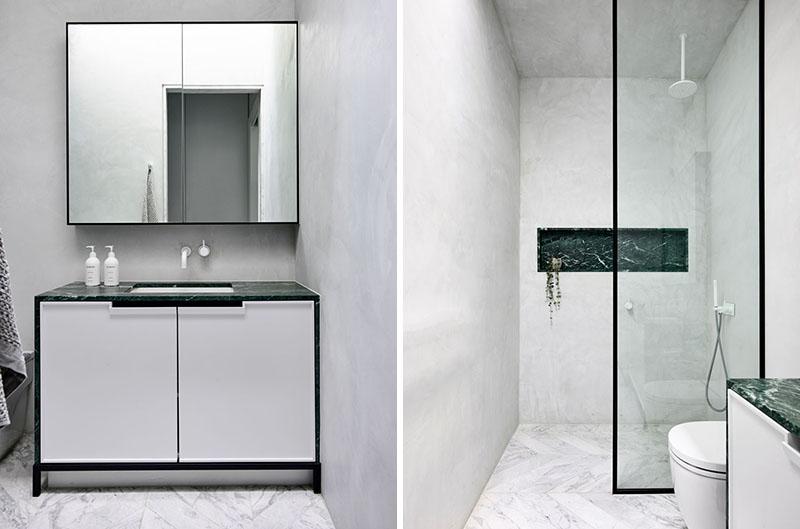 design of the shower niche
