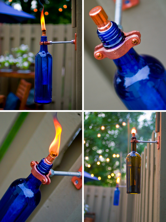 reuse wine bottles for home decor