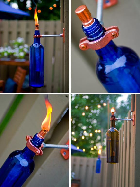 reuse wine bottles for home decor