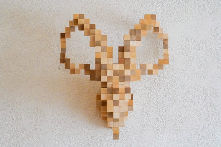 Pixelated Animal Head Structures