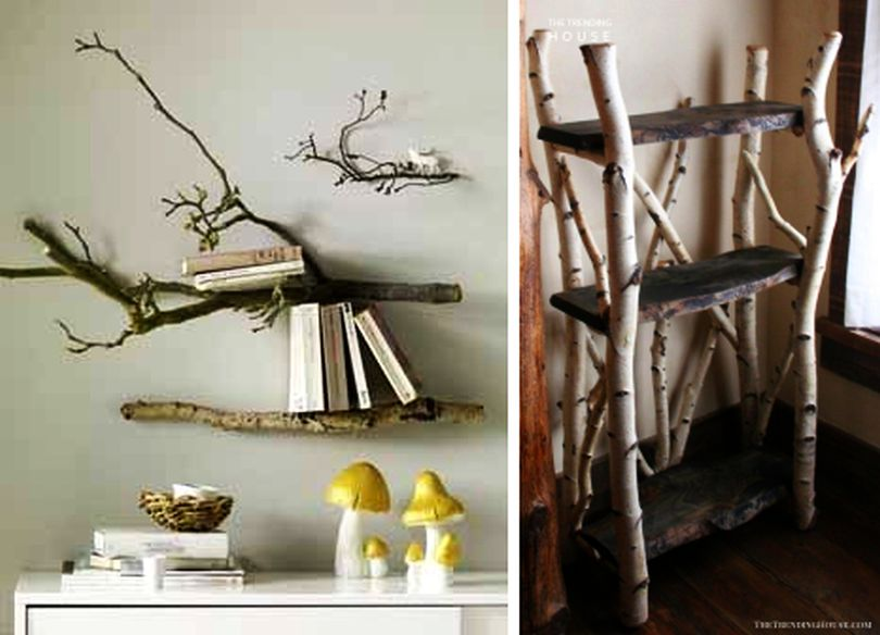 Tree Branch Shelves or Freestanding Shelves