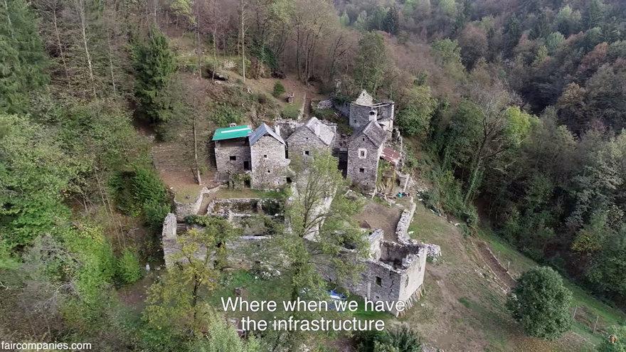 Couple Restores Stone Medieval Village