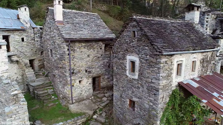 Couple Restores Stone Medieval Village