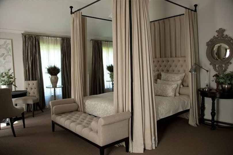 Canopy Bed With Ceiling-High Posts