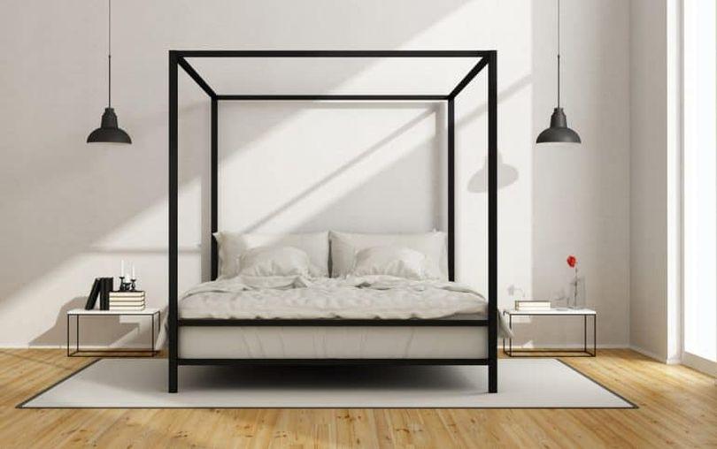 Metallic Canopy Bed