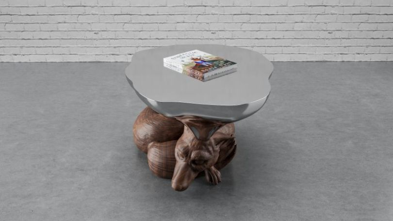 Centre table with an animal figurine
