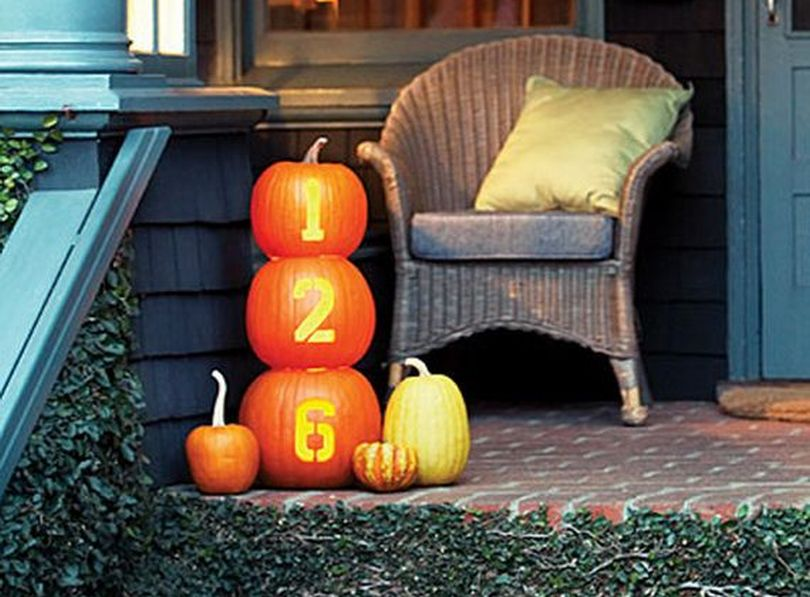 Street Number Pumpkins