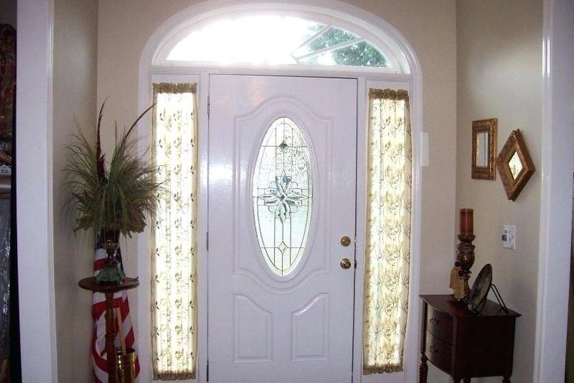 Glass Main Door With Curtains