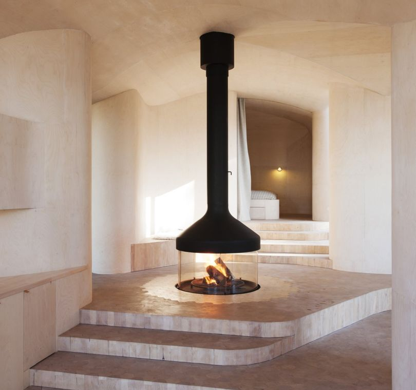 Fireplace in the middle of your home