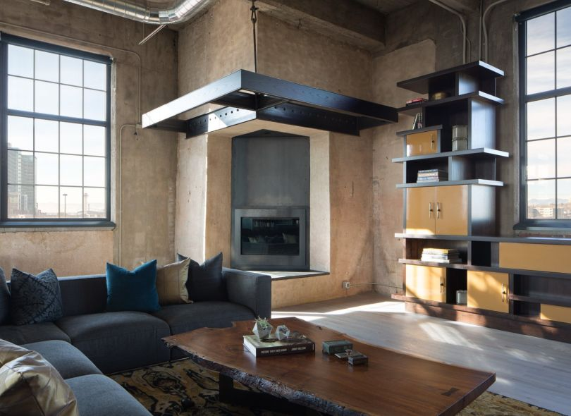 Modern fireplace in the chimney stack