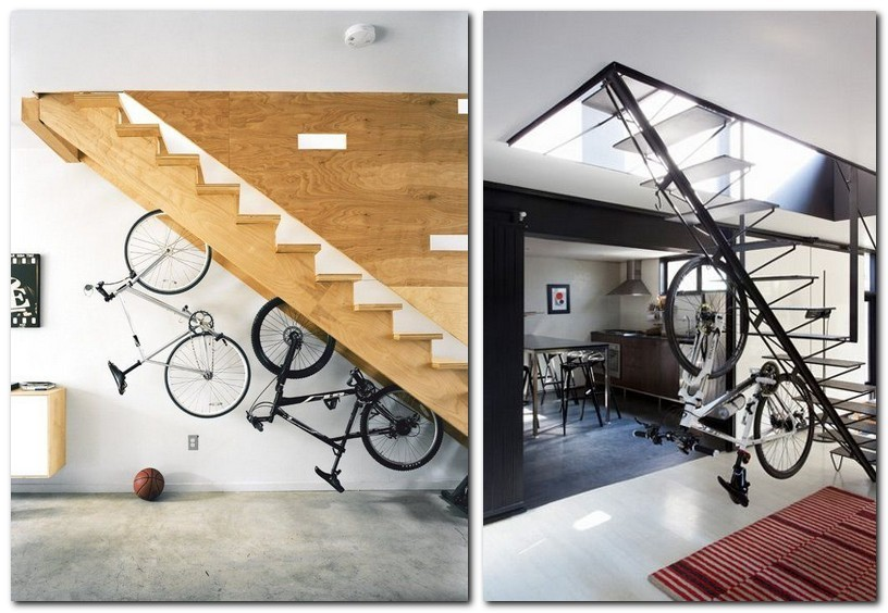 Store your bike under the stairs