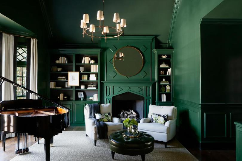 Enviable Emerald Fireplace