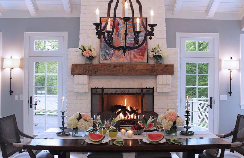 Dining Room Fireplaces