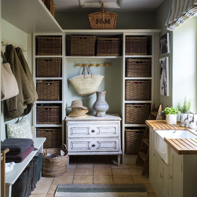Weave baskets for storage