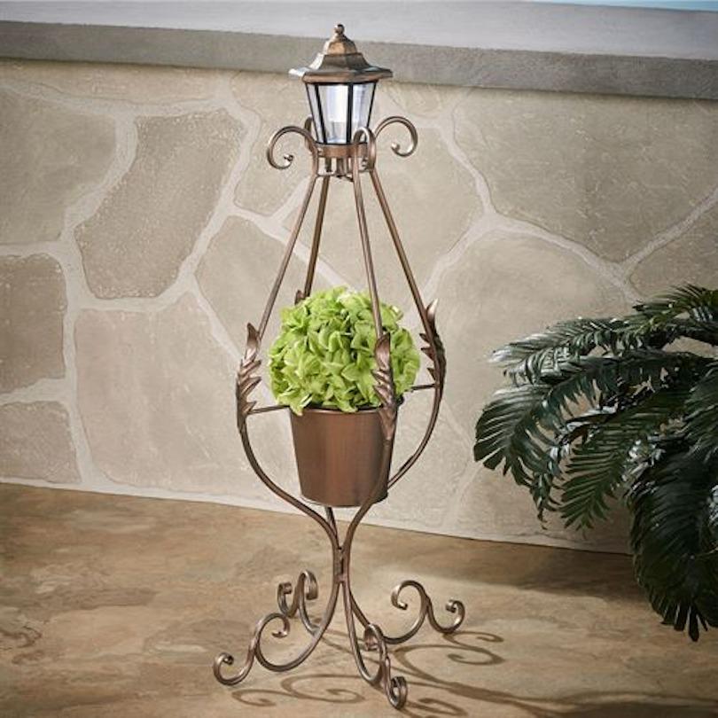 DIY Metal Lantern Plant Stand