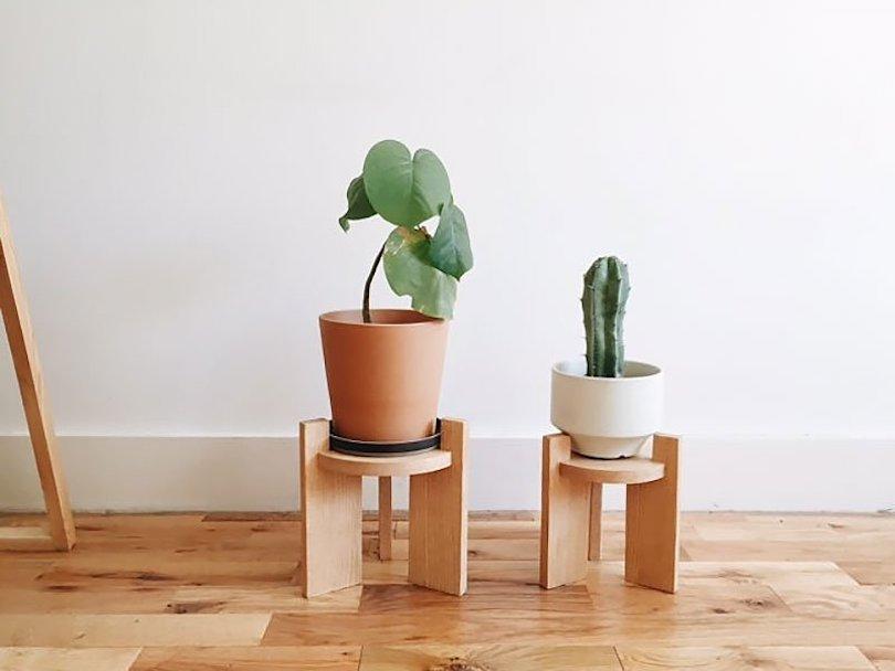 Mini Mid-Century Modern Plant Stand DIY