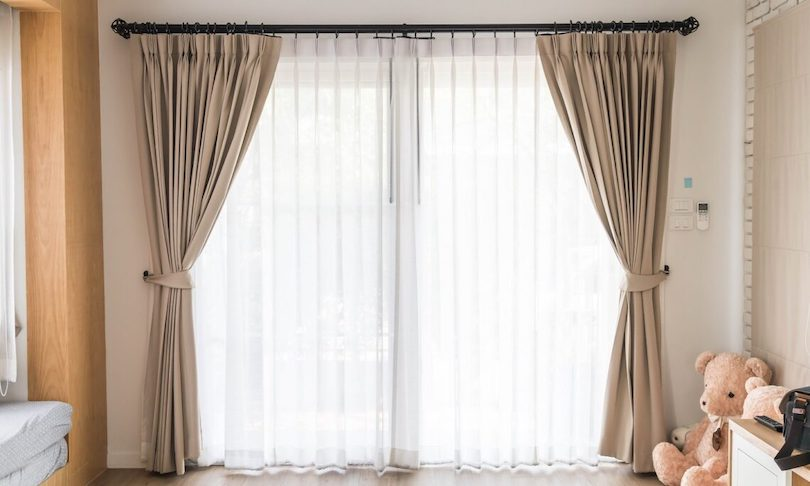 Get rid of heavy curtains