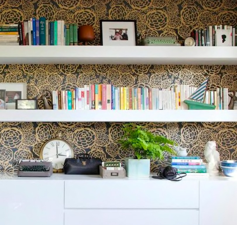 Decorate inside of your bookcase