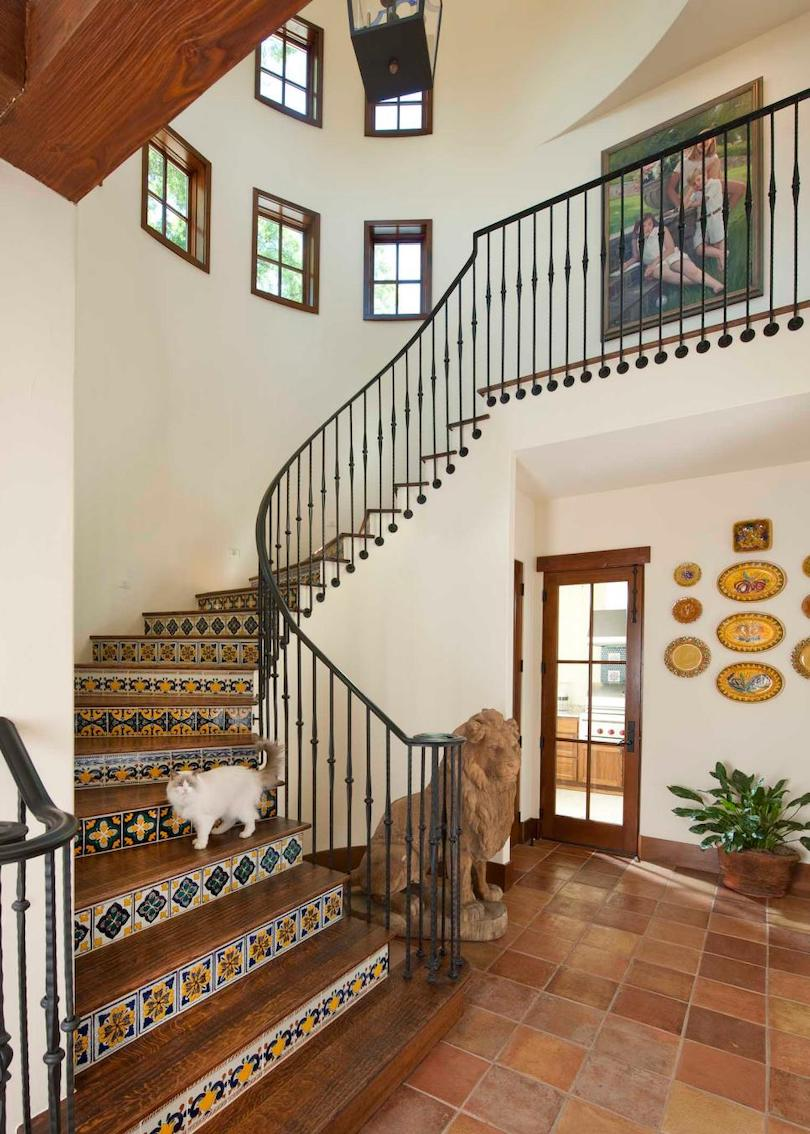 Southwestern Entryway with Steel or Wrought Iron Railing