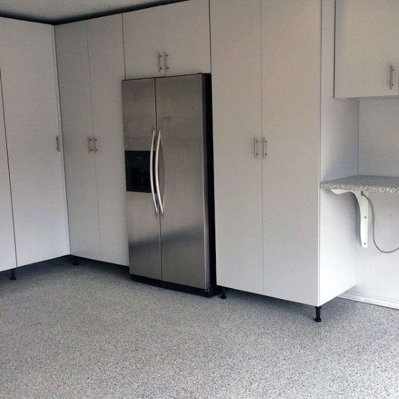 Garage Cabinets Along With Second Refrigerator