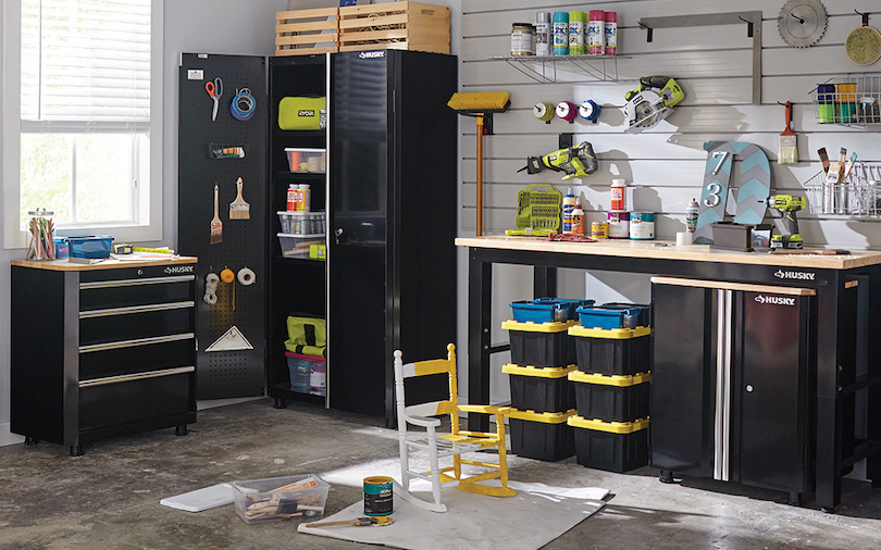Industrial-Looking Storage Cabinets