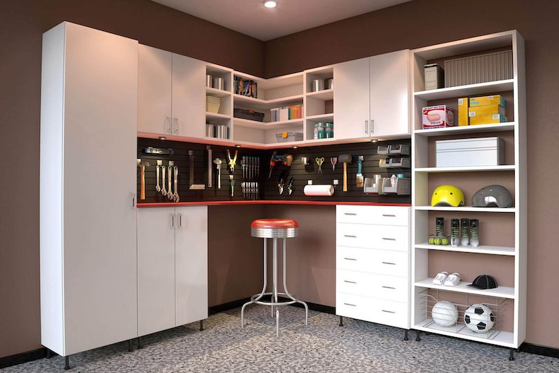 Open Shelving & Cabinets With Drawers