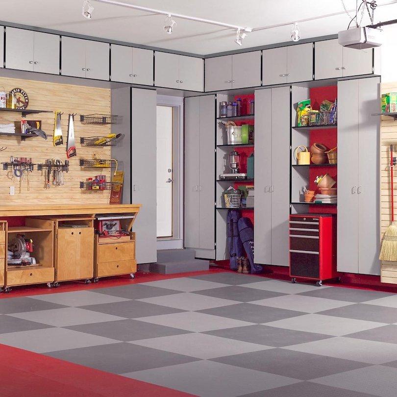 Scarp Wood Garage Cabinets