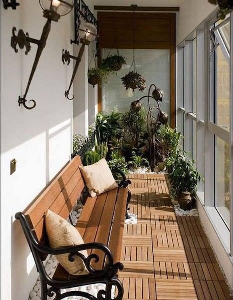Stylish Flooring on Balcony