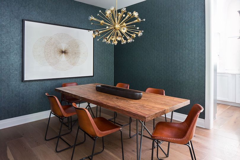 Spruce up your modern dining room with the lighting